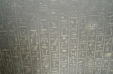 Egyptian hieroglyphics in stone