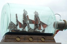 Ship in a bottle in London