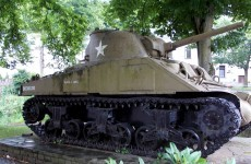 World War II tank in Luxembourg