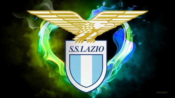 Lazio football club wallpaper with fire