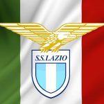 SS Lazio logo and Italian flag wallpaper