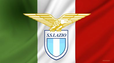 SS Lazio logo and Italian flag wallpaper