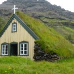 Hofskirkja church with grass roof