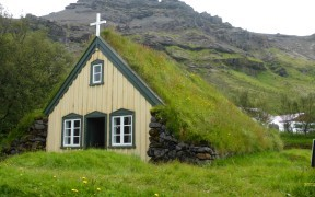 HD wallpapers Hofskirkja church in Iceland
