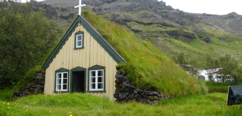 HD wallpapers Hofskirkja church in Iceland