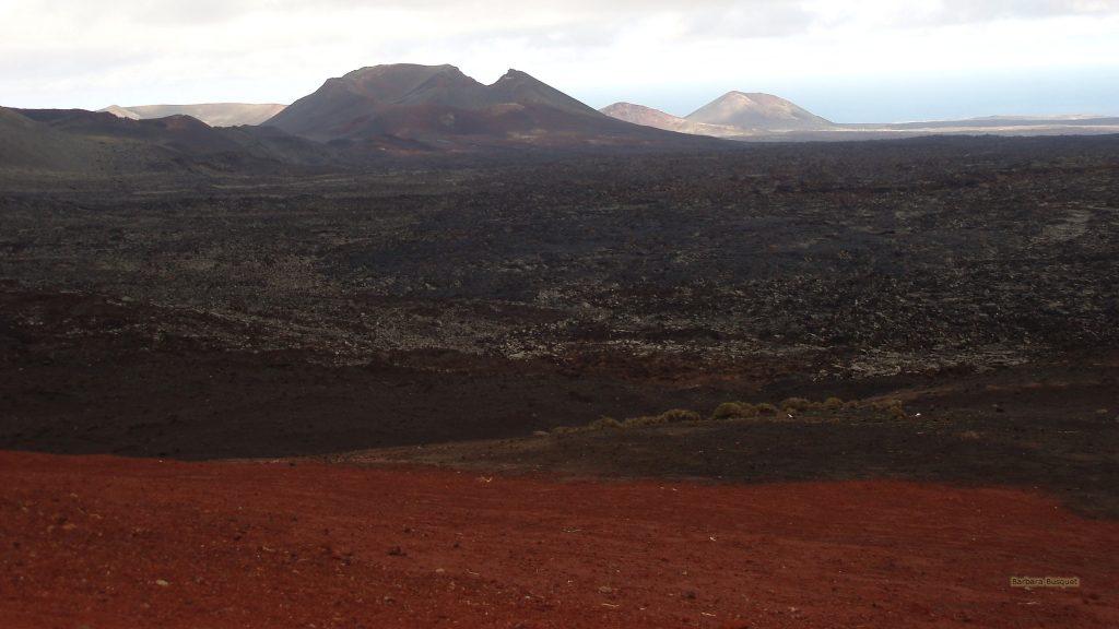 Red lava landscape Lanzarote