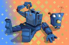 Funny robot wallpaper