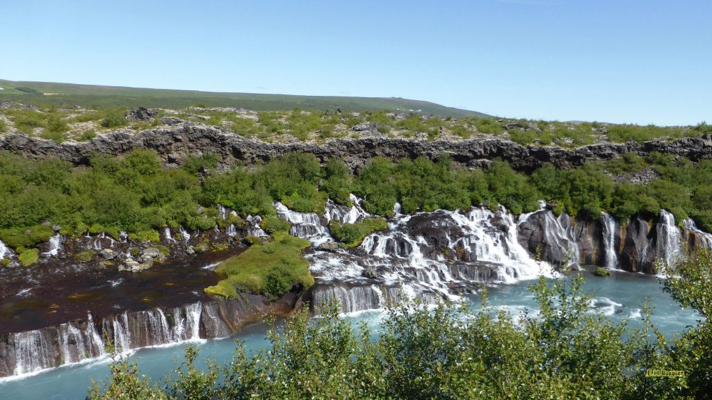 Iceland wallpaper Hraunfossar waterfalls