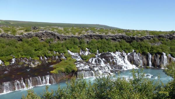 Iceland wallpaper Hraunfossar waterfalls